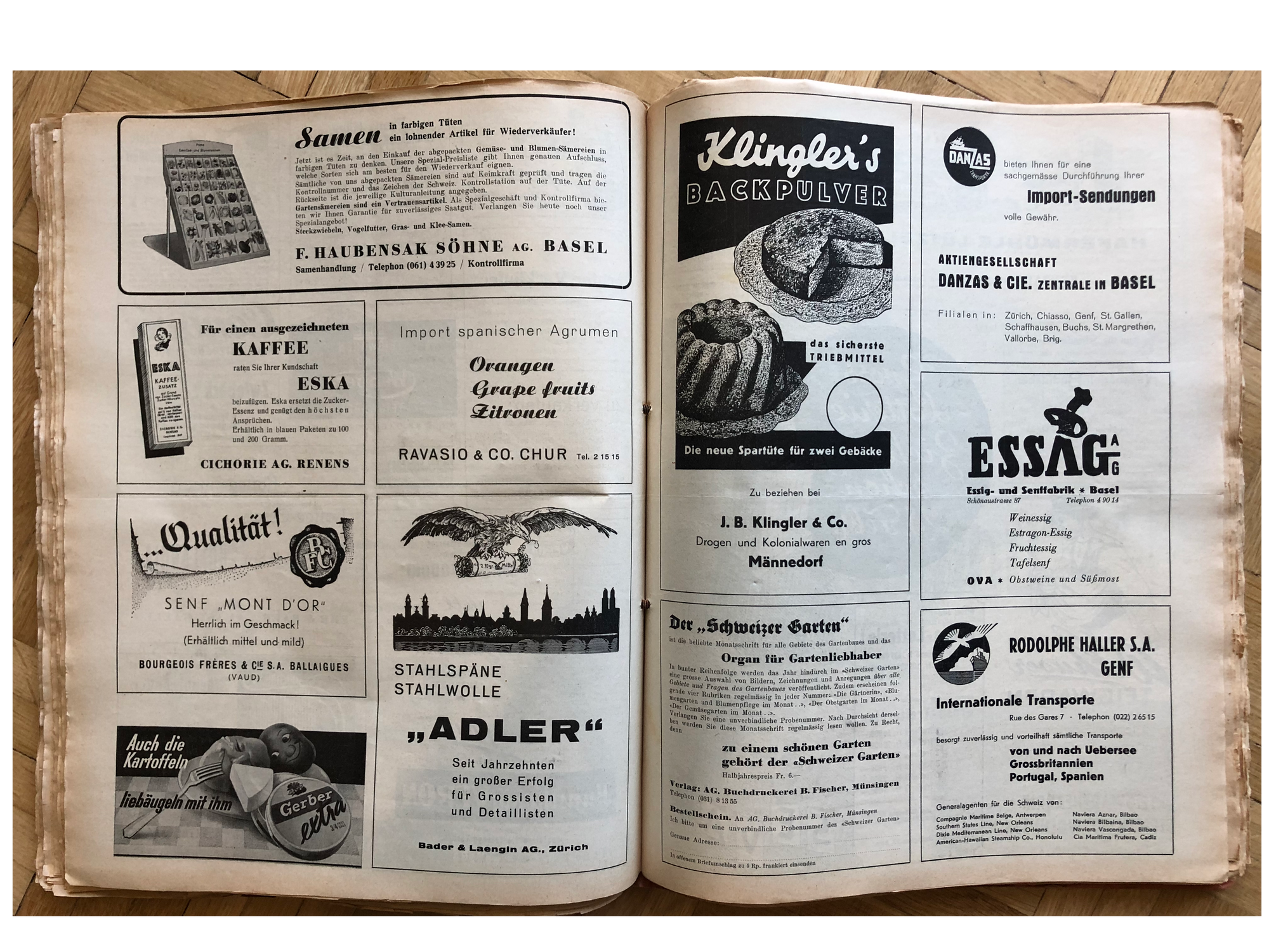 swipe file from Switzerland, ca. 1940